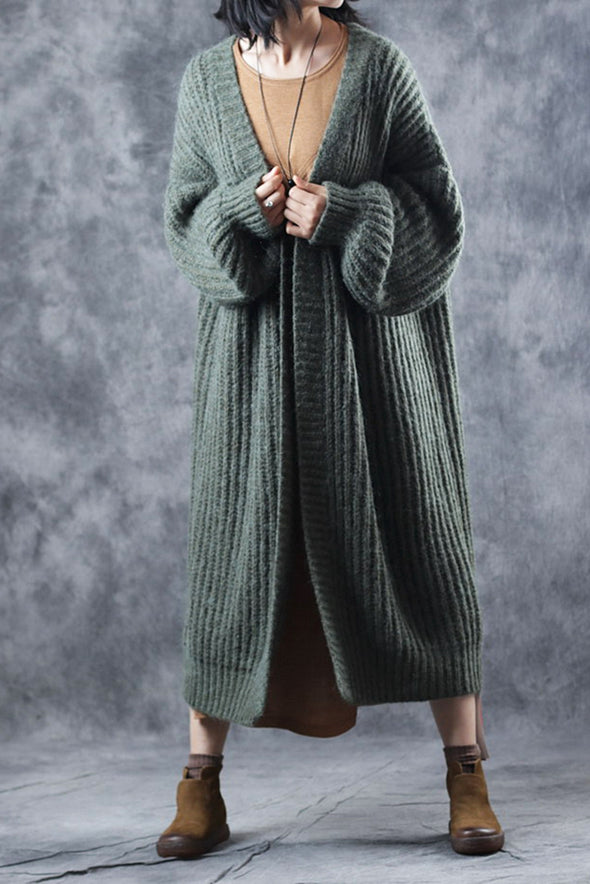 Casual Loose Thicken Woolen Over Coat For Women C3114