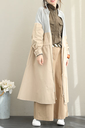 Casual Quilted Color Cotton Wind Coat For Women Q1512