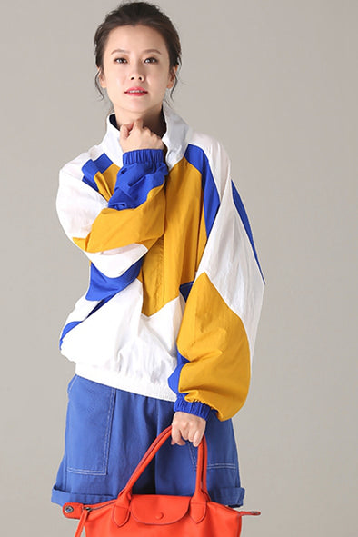 Casual Loose Quilted Coat Women Fall Sports Jacket W8691