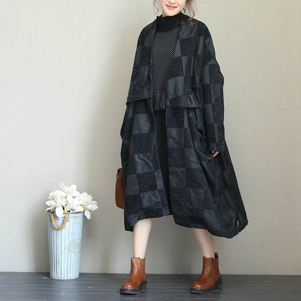 Casual Black Thicken Long Coat Women Winter Warm Jacket Q1685