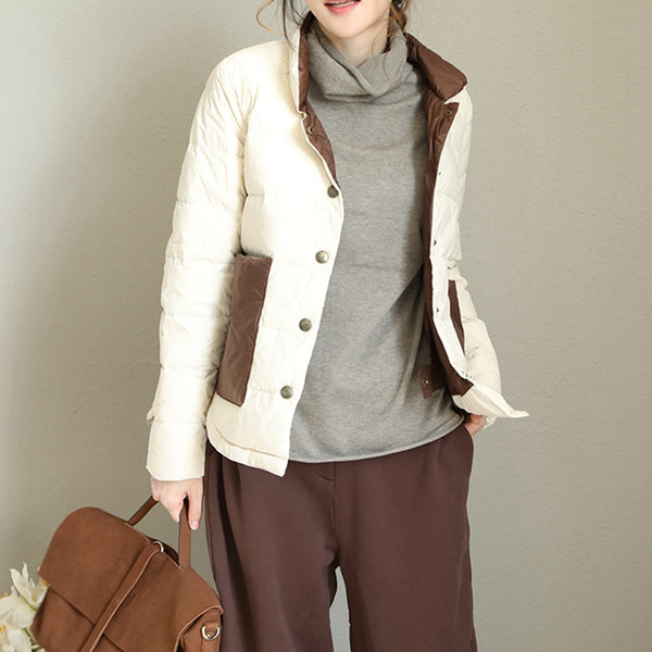 Casual Simple Korea Style Down Coat Women Winter Jacket Q1707