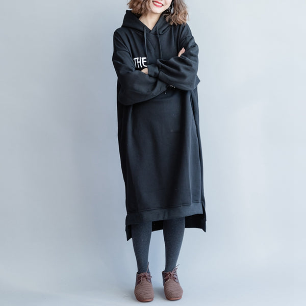 Women Hoodie Thicken Cotton Fleece Dresses Q5114