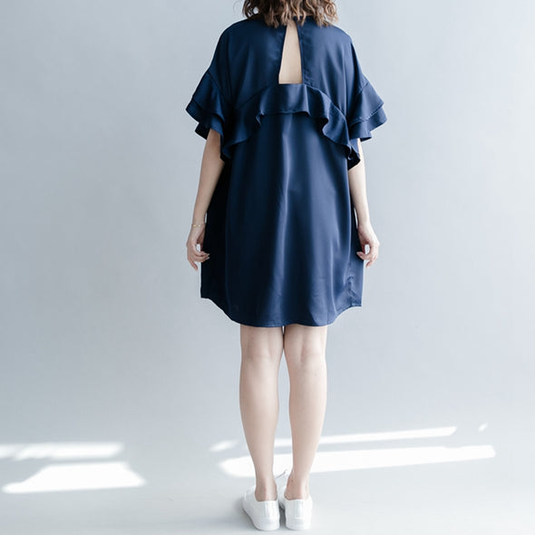Casual Cute Short Blue Dresses Women Fashion Clothes Q1263 - FantasyLinen