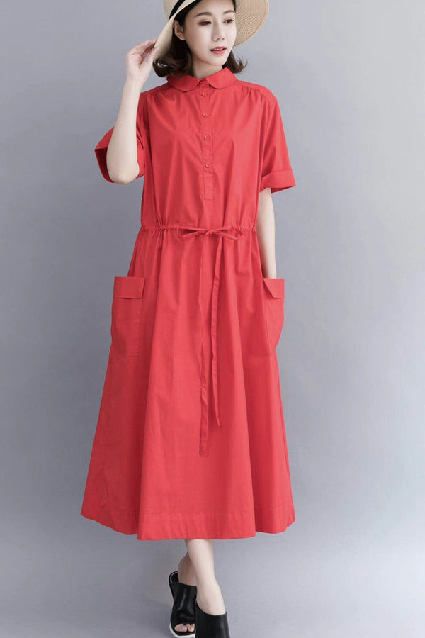 Casual Cotton Maxi Dresses For Women 712