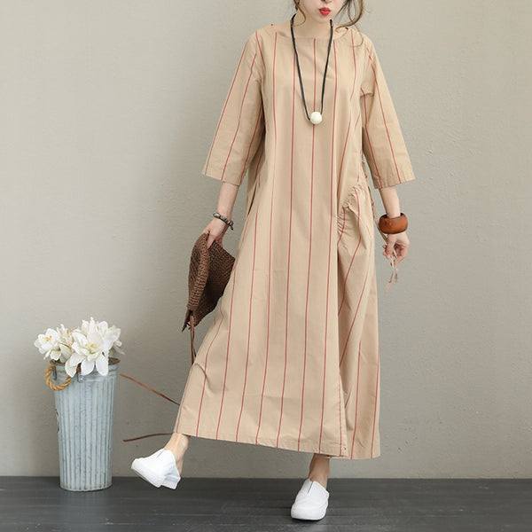 Striped Loose Maxi Dress For Women
