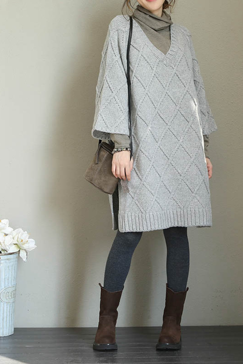 Casual Korea Style Loose Sweater Dresses For Women Q1709 Fantasylinen
