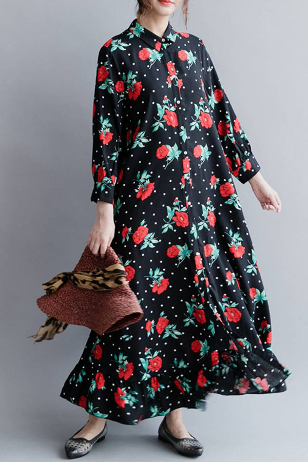 Cute casual Women Long Dresses  Loose Lady Dress Q20414