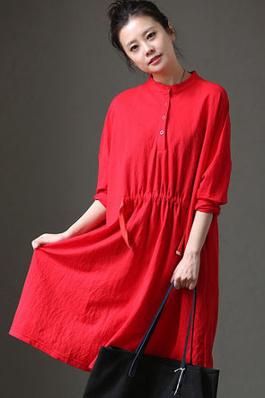 Women Summer Open Neck Cute Long Dresses Q1123 - FantasyLinen