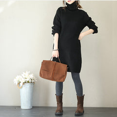 Women Casual High Neck Sweater Dresses For Winter Q1758