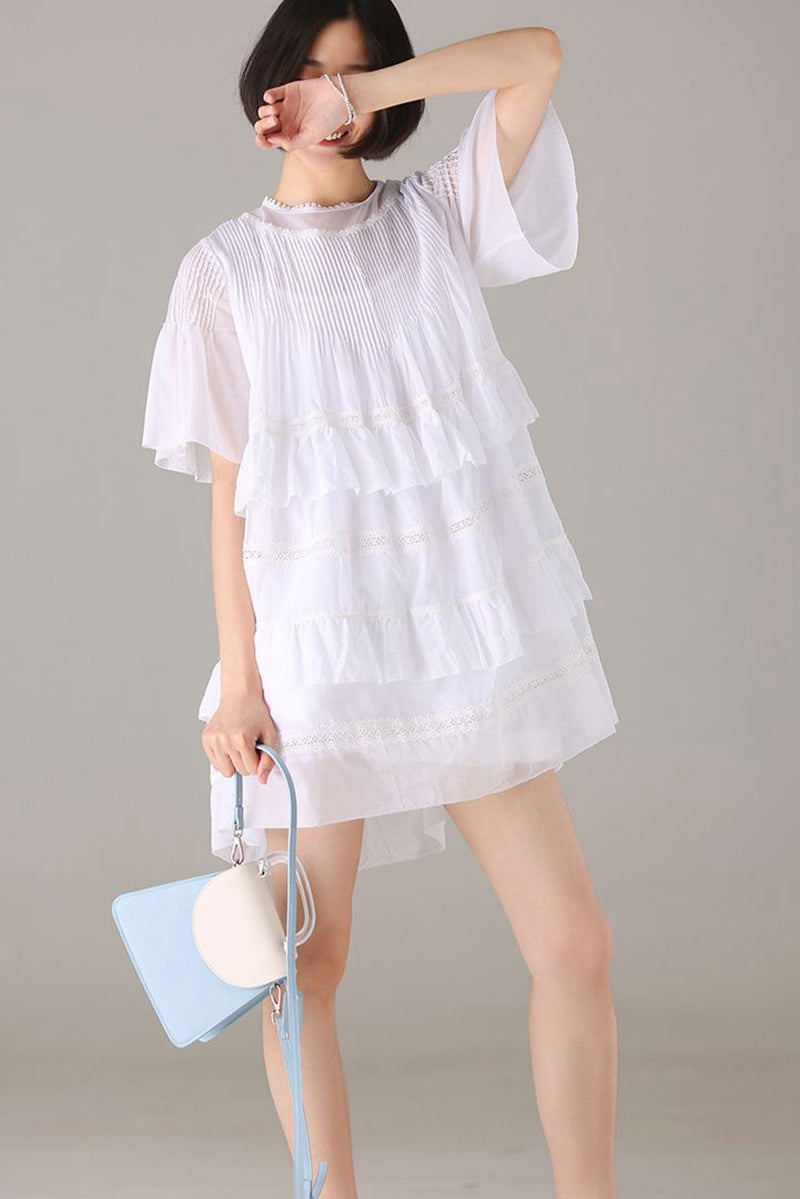 Cute White Lace Dresses Women Thin Casual Outfits Q2110 – FantasyLinen 9f928381a