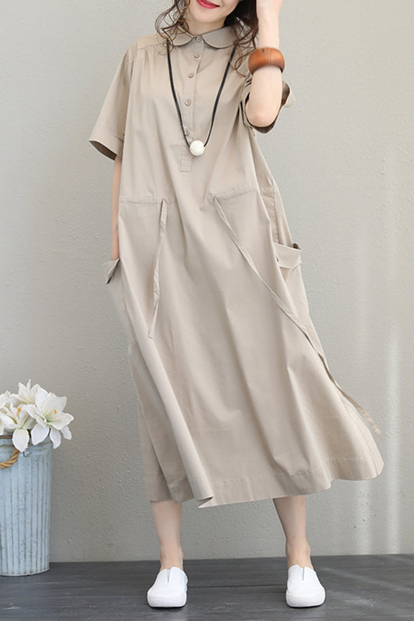 Fashion Fitted Long Shirt Dresses Women Casual Clothes Q1201