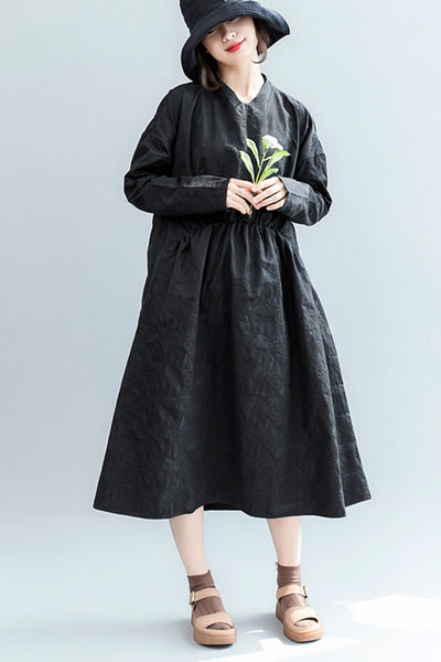 Autumn Black Doll Dresses Women Casual Clothes Q2088