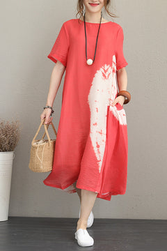 Summer Print Long Dresses Casual Clothes For Women Q1170