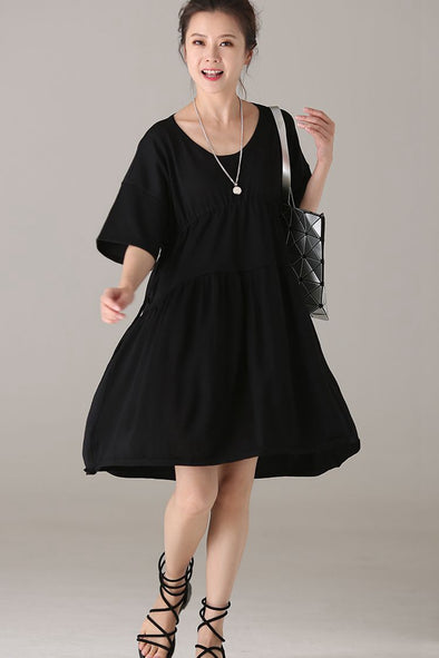 Summer Black Knitted Dresses Women Fashion Clothes Q2822