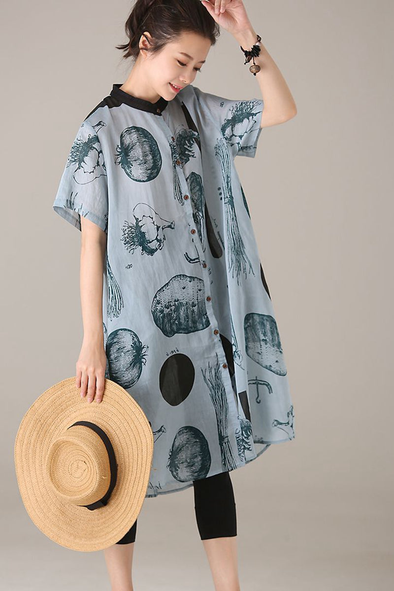 15004040318 Womens Summer Shirt Dress - DREAMWORKS