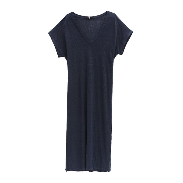 Elegant Cotton Maxi Dresses Women Summer Clothes Q2069