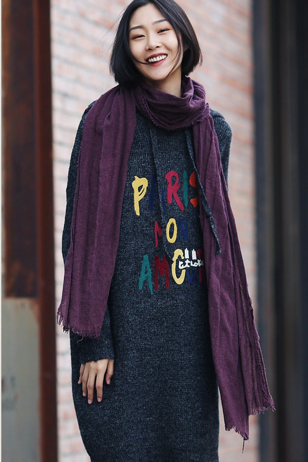 Cute Loose Hoodie Sweater Dresses Women Casual Clothes M1580