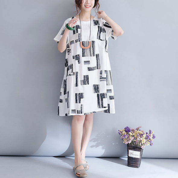 Casual Quilted White Dresses Women Fashion Clothes Q3079