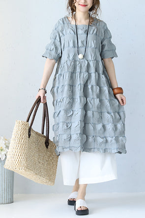 Cute Blue Doll Dress Long Bubble Skirt Q1056