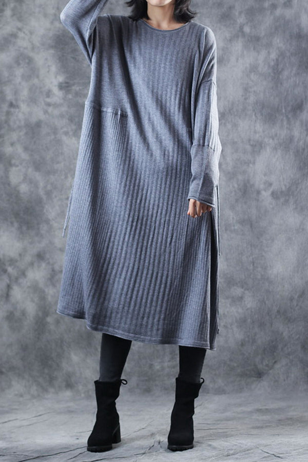 Loose Comfort A Line Base Knitted Sweater Dresses For Women Q2911