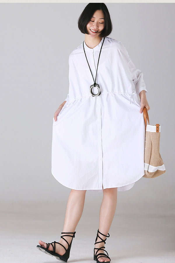 Cute White Cotton Dresses Women Clothes For Autumn C1133