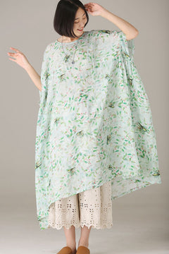 Cute Floral Cotton Linen Dresses Women Cute Clothes Q1292