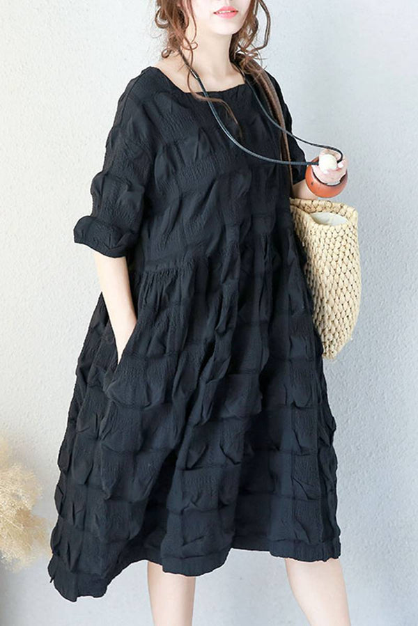 Women Summer Cute Cotton Doll Dress Long Clothes Q1953A