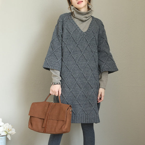 Casual Korea Style Loose Sweater Dresses For Women Q1709