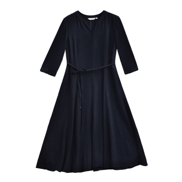 Loose Plus Sweep Black Dresses Women Casual Clothes Q0467