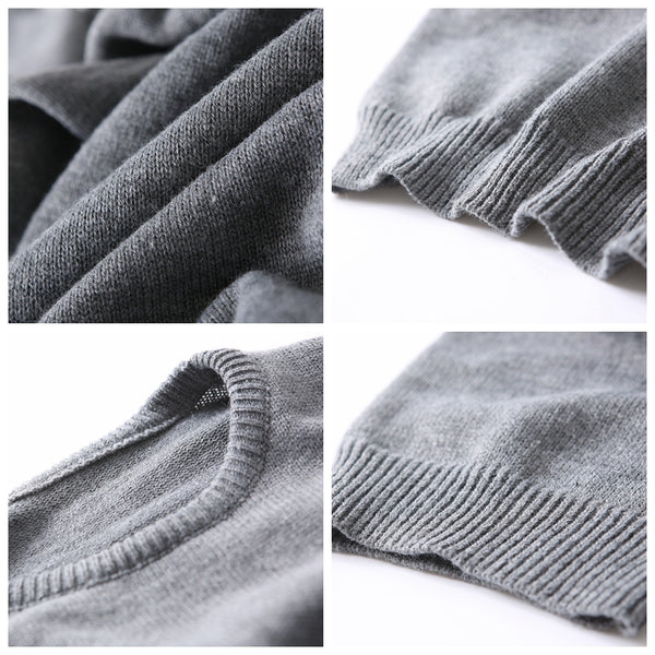 Loose Knitted Sweater Gray Maxi Dresses Women Warm Clothes Q8106
