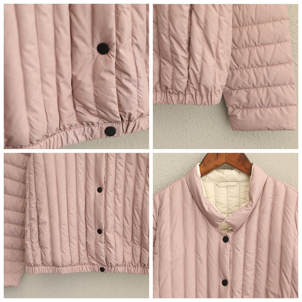 Simple Fitted Button Down Coat Women Winter Jacket Q1708