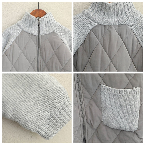 Korea Style Vintage Quilted Thicken Coat Women Warm Jacket For Winter Q1687
