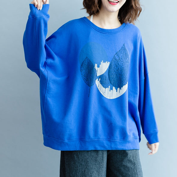 Casual Cute Cotton Fleece Women Fall Tops R2081