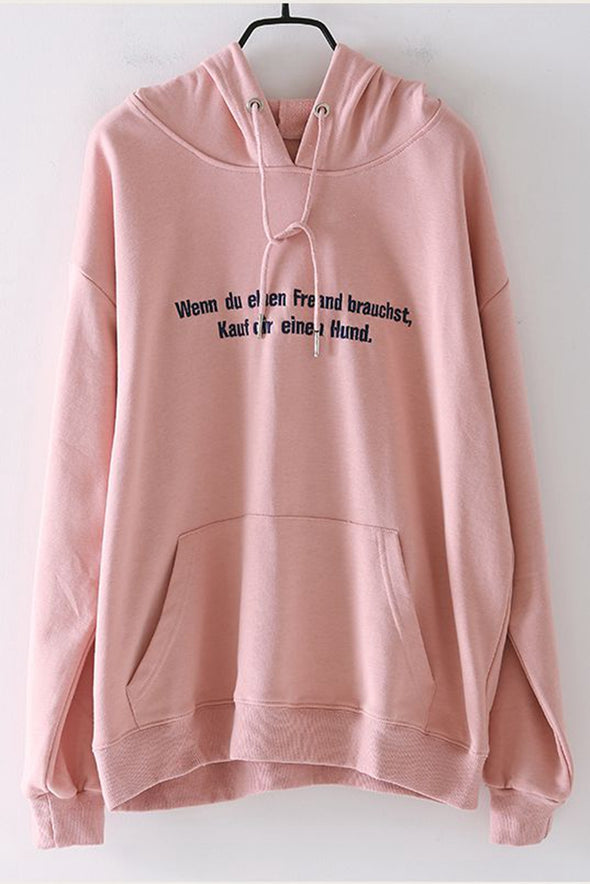 Casual Hoodie Cotton Fleece Women Fall Blouse R6036