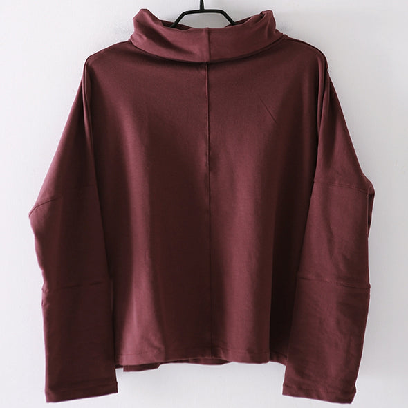 Casual High Neck Cotton Fleece For Women R1868