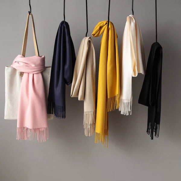 Simple Wool Warm Long Scarf Women Accessories  Christmas gift Thanksgiving gift