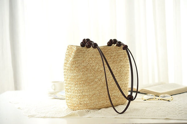 Vacation Summer Natural Straw Handmade Shoulder Bag For Women,Straw Tote Bag