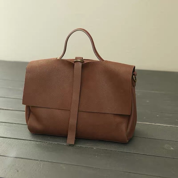 Leather Brown Bag for women