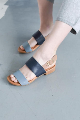 Blue Leather summer sandals
