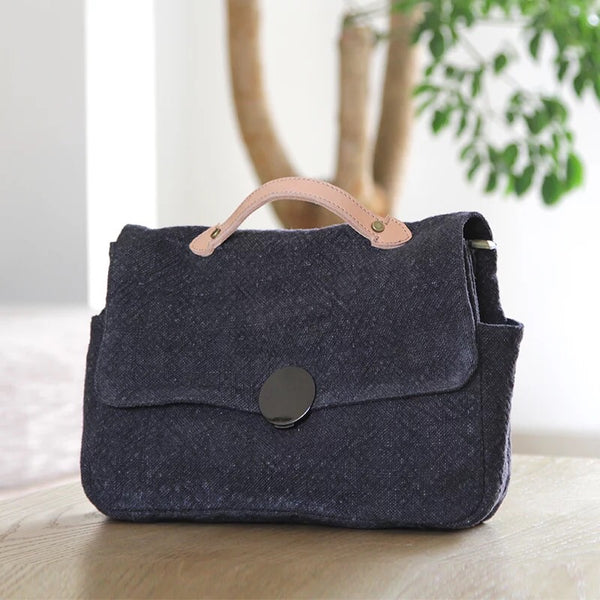 Handmade Cotton Linen Bags For Women,Casual Handbags