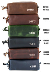 Groomsmen Gifts Valentines Day Gifts for Him Leather Toiletry Bag Boyfriend Gift