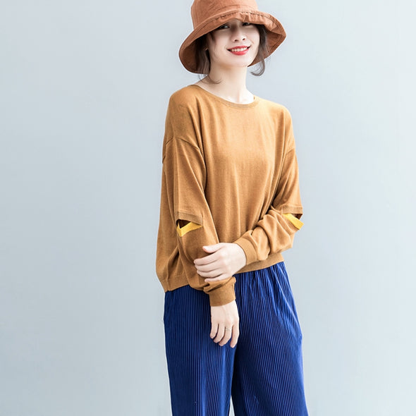 Casual Cute Wool Knitwear Women Autumn Tops S2081
