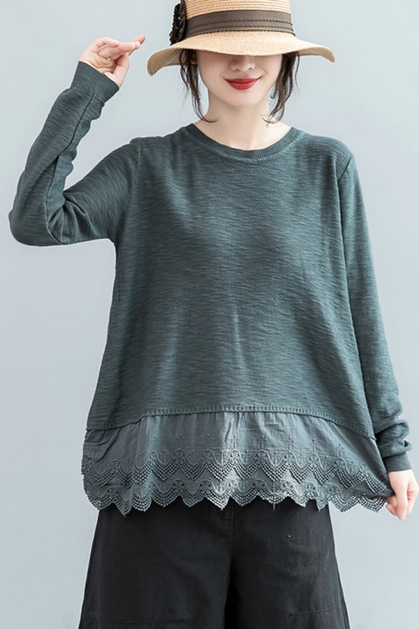 Cute Casual Long Sleeve Knitwear Women Tops For Autumn S2083