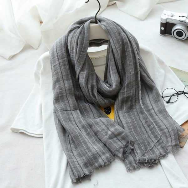 Cotton Linen Scarf Women Fashion Accessories E2701 - FantasyLinen