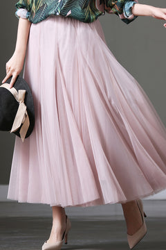 Casual Long Chiffon Skirts For Women Clothes Q368
