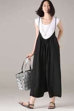 Plus Size Wide Leg Overalls Women Casual Clothes K1875