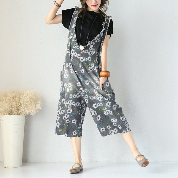 Vintage Thin Denim Overalls Jumpsuits For Women Q3290