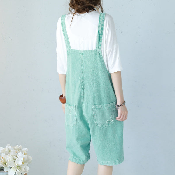 Cute Summer Cotton Overalls Women Fashion Jumpsuit Q1186