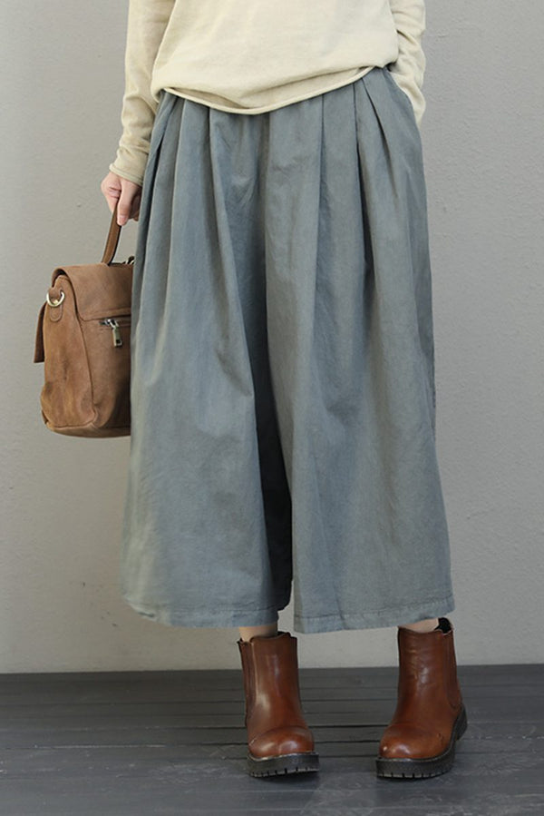 Vintage Wide Leg Trousers Dress Pants For Women Q6581