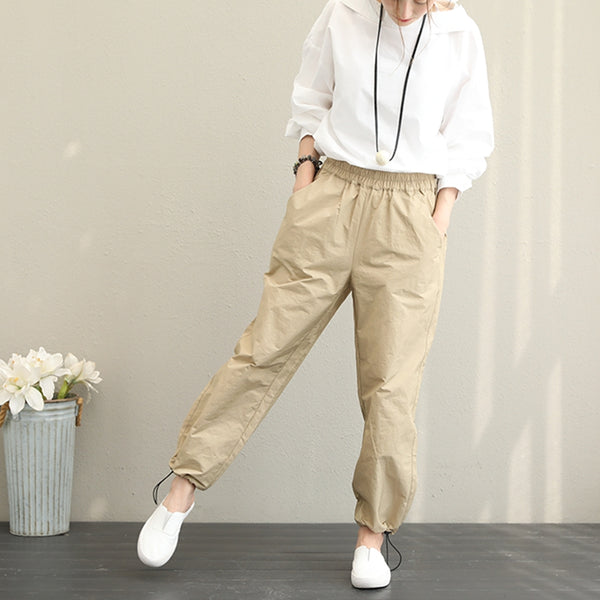 Casual Loose Long Pants Women Autumn Trousers Q1389
